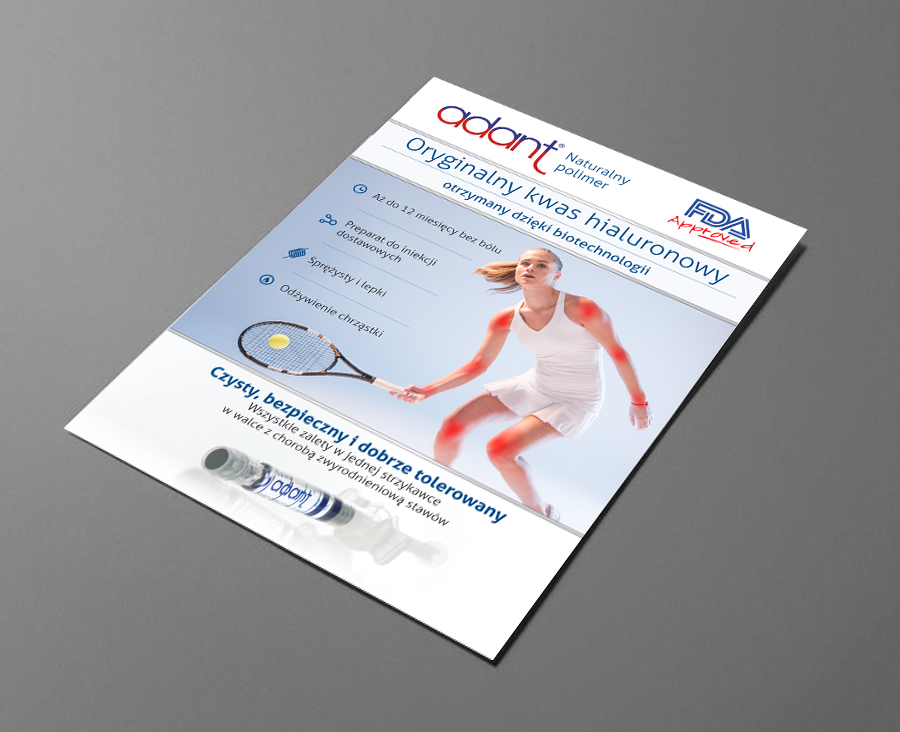 Projekt broszury Adant - Naturalny Polimer