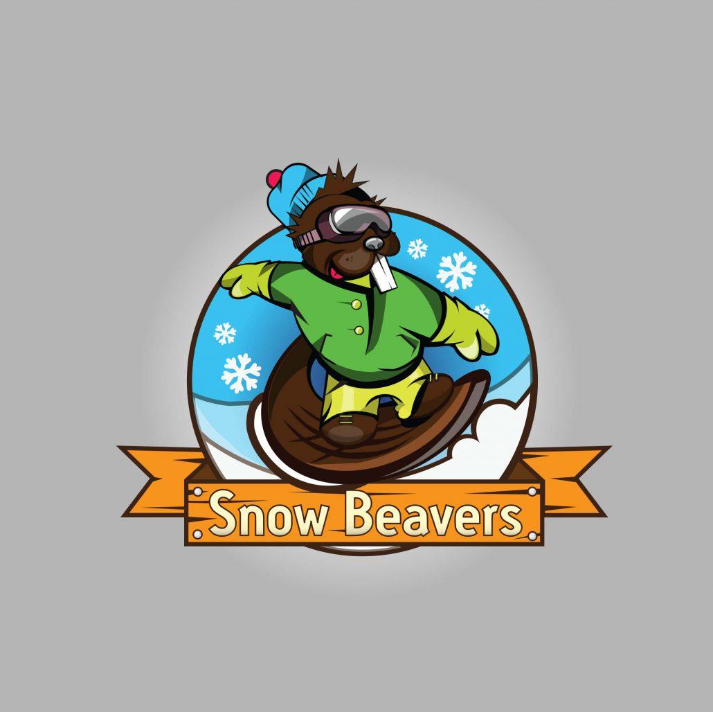 Projekt logo Snow Beavers